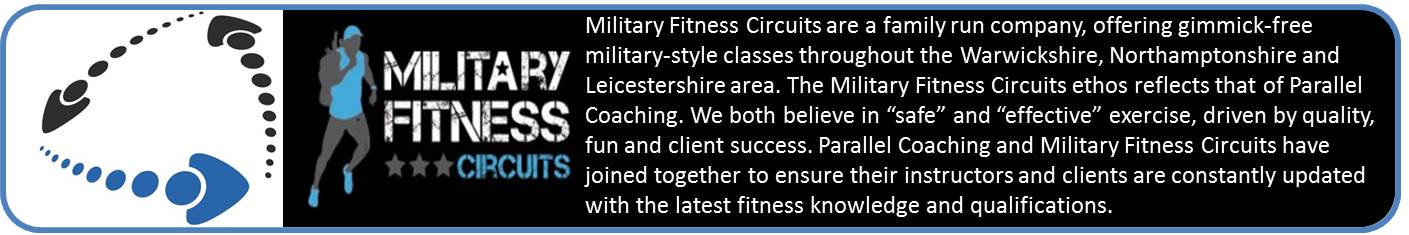 Parallel Coaching and Military Fitness Circuits have joined together to ensure their fitness instructors are constantly updated with the latest Fitness Instructor knowledge and Fitness Courses. Parallel Coaching provide Fitness Courses, Personal Trainer course, Kettlebell training course, and are accredited by the register of exercise professionals (REPs Courses). Finally Parallel coaching offer Emergency First Aid Course and Level 3 Exercise Referral